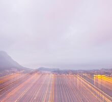 Lugano in dusk by Mats Silvan