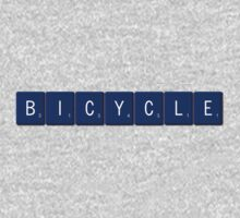 Bicycle Scrabble (Blue) One Piece - Long Sleeve