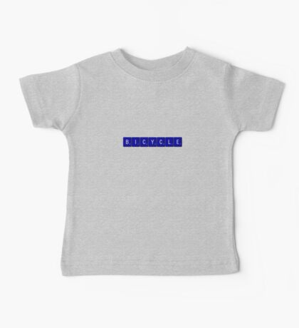 Bicycle Scrabble (Blue) Baby Tee