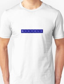 Bicycle Scrabble (Blue) T-Shirt