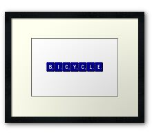 Bicycle Scrabble (Blue) Framed Print