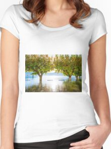 Flooding lake Women's Fitted Scoop T-Shirt