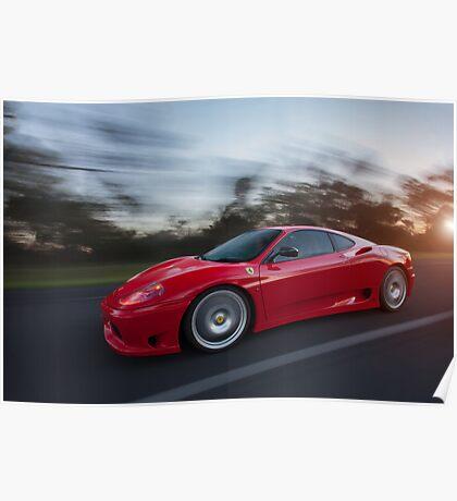 Ferrari Challenge Stradale Poster