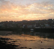 WHITBY TOWN AT DUSK by NorthernWitch