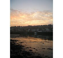 WHITBY TOWN AT DUSK Photographic Print