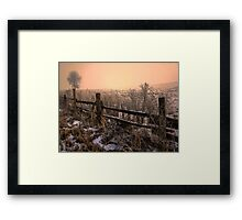 Old But Still Standing ~ Snow ~ Framed Print