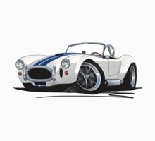 AC / Shelby Cobra White (Blue Stripes) Kids Clothes