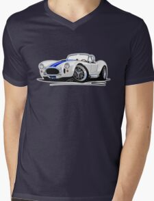 AC / Shelby Cobra White (Blue Stripes) T-Shirt