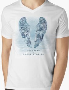 ghost stories, rock, cold, play, wings, sky, coldplay Mens V-Neck T-Shirt