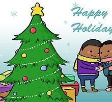 African-American Holiday Card--Perfect Gift by realfamilycards