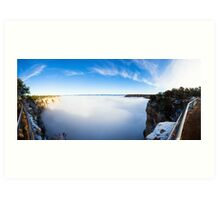 Rare Grand Canyon covered with fog, panoramic Art Print
