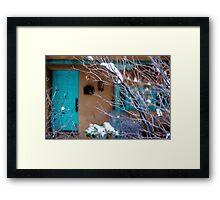 Blue Trim Background Framed Print