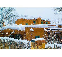 Santa Fe Snowstorm Photographic Print