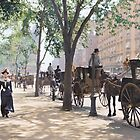 Cab Stand at Madison Square Garden, 1900 by Sanna Dullaway