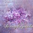 Sympathy Greeting Card - Lilacs by MotherNature