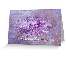 Sympathy Greeting Card - Lilacs Greeting Card