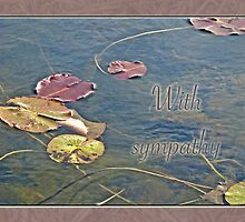 Sympathy Greeting Card - Autumn Lily Pads by MotherNature