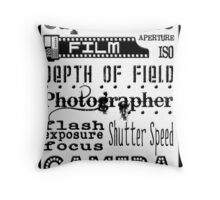 Photographer Subway Art Throw Pillow
