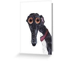 GREYHOUND g203 Greeting Card