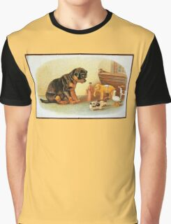 Cute Victorian puppy, wooden toys Graphic T-Shirt