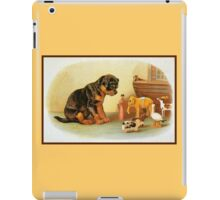 Cute Victorian puppy, wooden toys iPad Case/Skin