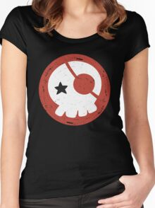 EVANGELION - Asuka Langley Skull Women's Fitted Scoop T-Shirt
