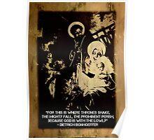 Bonhoeffer Christmas Print  Poster