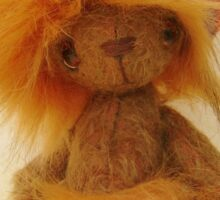 Handmade bears from Teddy Bear Orphans - Lionel Lion Sticker