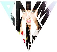 Katy Perry posing Prism Photographic Print