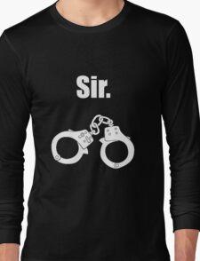 Sir. White Long Sleeve T-Shirt