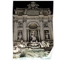 Rome - The Trevi Fountain at night Poster