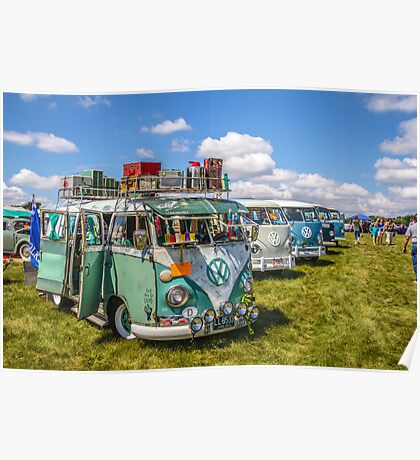 VW busses wide version Poster