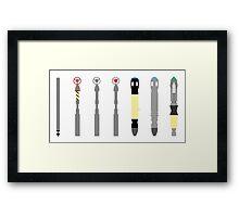 Sonic screwdrivers Framed Print