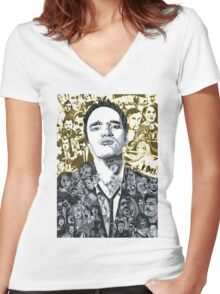 quentin tarantino movie colection Women's Fitted V-Neck T-Shirt