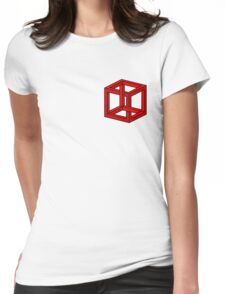 Impossible Cube Womens Fitted T-Shirt