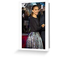 Natalie Portman Greeting Card
