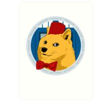 Wow Such Timelord! Art Print