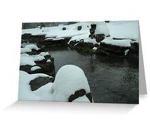 Snow on the Rocks Greeting Card