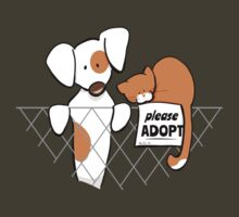 Please Adopt Shelter Pets | Patch & Rusty™ by offleashart