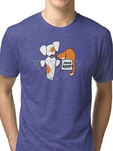 Please Adopt Shelter Pets | Patch & Rusty™ Tri-blend T-Shirt