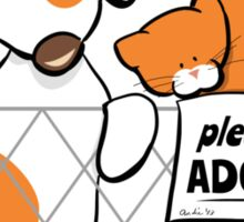 Please Adopt Shelter Pets | Patch & Rusty™ Sticker