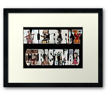 Community Clay Christmas Card Framed Print