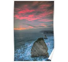 Freshwater Bay Sea Stacks Poster