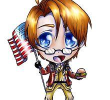 Chibi America by zeecyanide