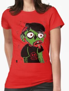 Zombie Dude Womens Fitted T-Shirt