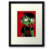 Zombie Dude Framed Print