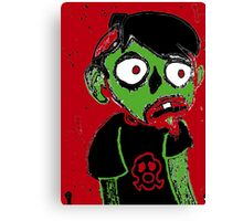 Zombie Dude Canvas Print
