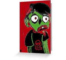 Zombie Dude Greeting Card