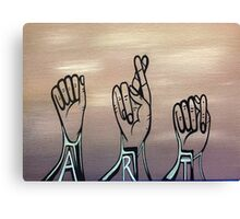 A-R-T in Sign Language Canvas Print