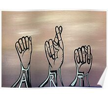 A-R-T in Sign Language Poster